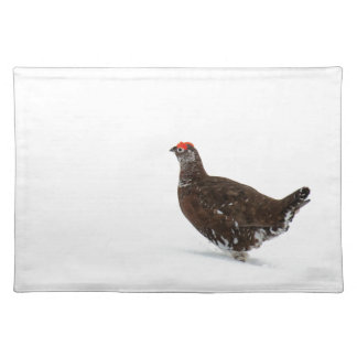 Red grouse placemat