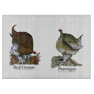 red grouse, ptarmigan, tony fernandes cutting board