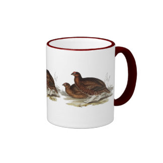 Red Grouse Ringer Mug