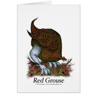 red grouse, tony fernandes card