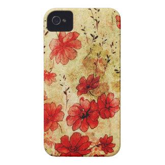 Red Grunge Floral Blackberry Bold Case-Mate Blackberry Case