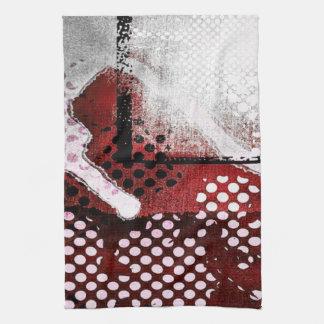 Red Grunge Hand Towel