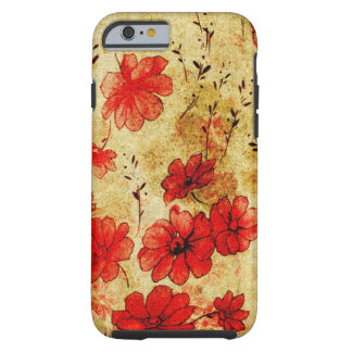 Red Grunge iPhone 6 case Tough iPhone 6 Case