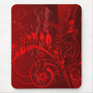 red grunge mouse mat
