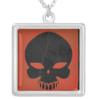 Red Grunge Skull Custom Jewelry