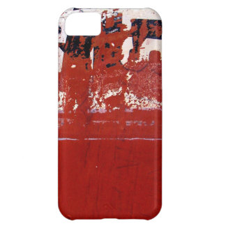 Red Grunge Texture with graffiti Cover For iPhone 5C