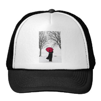 Red guard Rain (Red umbrella) Hats