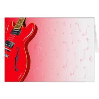 Red Guitar Card
