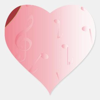 Red Guitar Heart Sticker