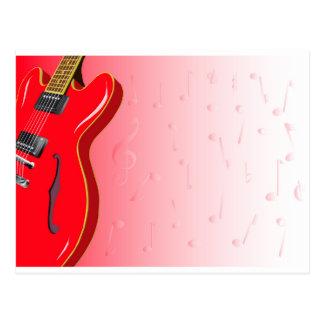 Red Guitar Postcard