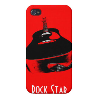 Red Guitar Rock Star Music Instrument iPhone Case iPhone 4 Cases