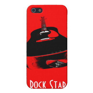 Red Guitar Rock Star Music Instrument iPhone Case iPhone 5 Cases