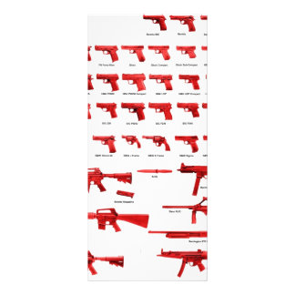 red guns personalized rack card