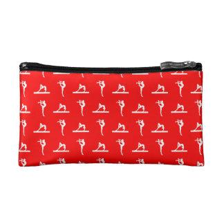 Red Gymnastics Pattern Clutch