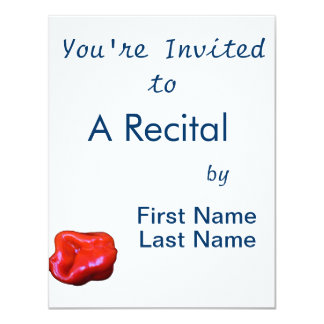 red habanero single cutout 11 cm x 14 cm invitation card