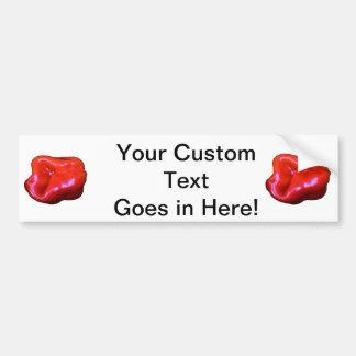 red habanero single cutout bumper sticker