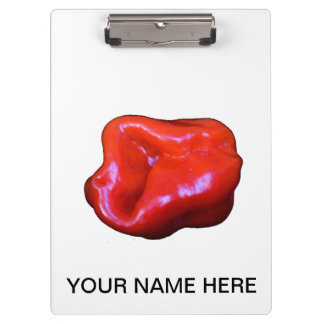 red habanero single cutout clipboard