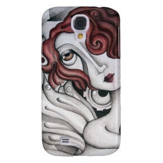 Red Hair Abstract Woman HTC Vivid Tough Case Galaxy S4 Covers
