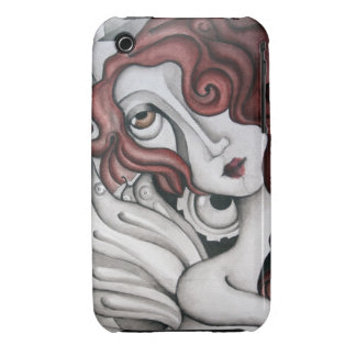 Red Hair Abstract Woman - iPhone 3/3GS Case iPhone 3 Case-Mate Cases