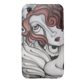 Red Hair Abstract Woman iPhone 3 Case