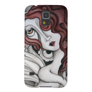 Red Hair Abstract Woman Samsung Galaxy Nexus Case