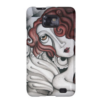 Red Hair Abstract Woman Samsung Galaxy S2 Case