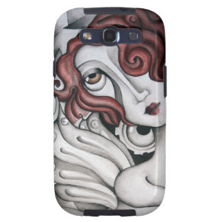 Red Hair Abstract Woman Samsung Galaxy S3 Case