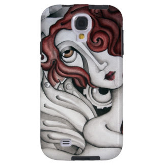 Red Hair Abstract Woman Samsung Galaxy S4 Case
