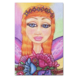 Red Hair Fairy Fae Spring Flowers Tissue Paper