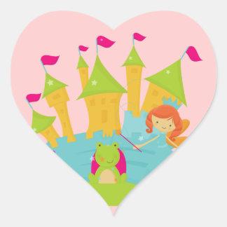 Red Hair Fairy Princess Heart Sticker