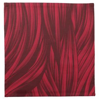 Red hair fur texture printed napkin