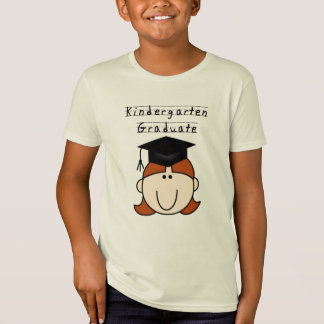 Red Hair Girl Kindergarten Graduate T-Shirt