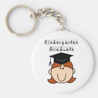 Red Hair GIrl Kindergarten Graduate Tshirts Keychains