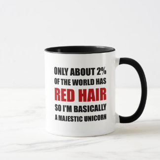 Red Hair Majestic Unicorn Mug