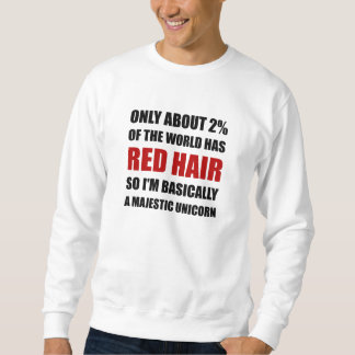 Red Hair Majestic Unicorn Sweatshirt