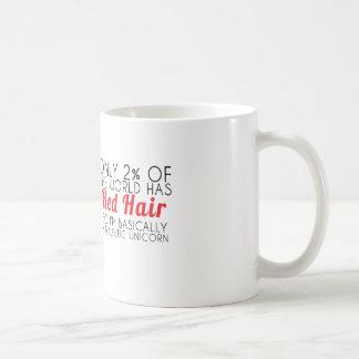 Red Hair Majestic Unicorn Text Mug