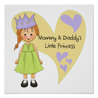 Red Hair Mommy and Daddy's Princess Posters