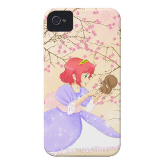 Red hair Princess and squirrel BlackBerry Bold Case-Mate iPhone 4 Cases