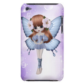 Red Hair Princess Butterfly iPod Touch Case