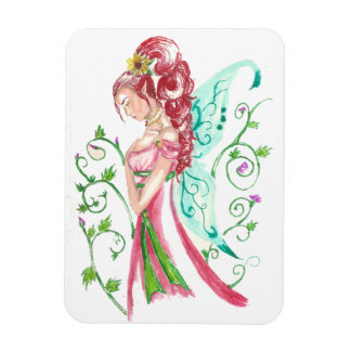 Red Haired Faery Rectangular Photo Magnet