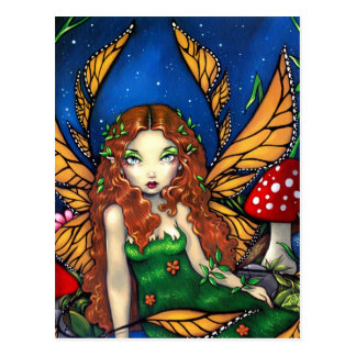 """""""Red Haired Fairy Queen"""" Postcard"""