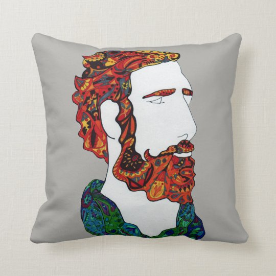 Red-haired hipster dude cushion