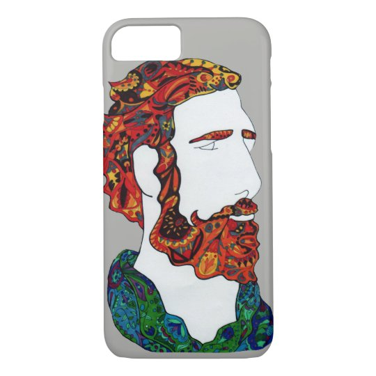 Red-haired hipster dude iPhone 8/7 case