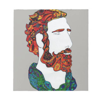 Red-haired hipster dude notepad