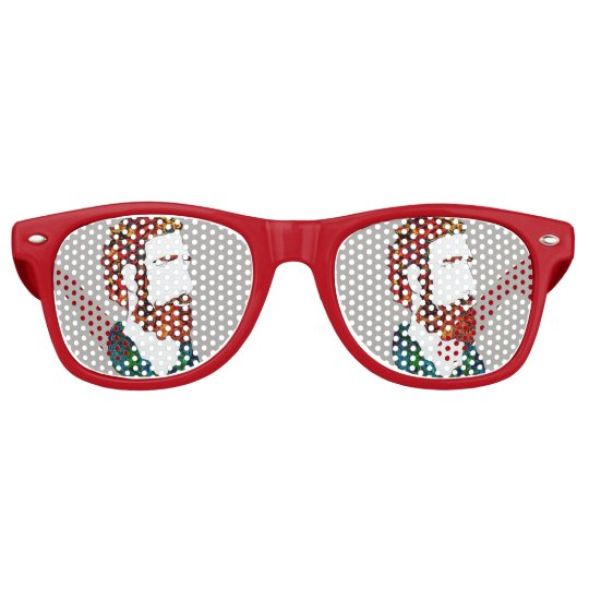 Red-haired hipster dude retro sunglasses