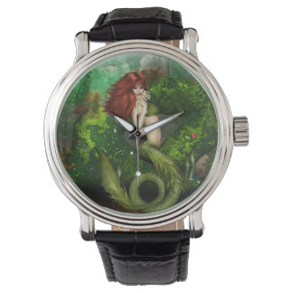 Red Haired Mermaid Watch