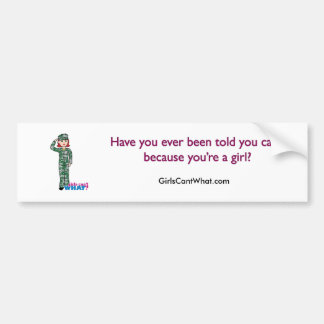 Red Haired Military Girl in Camo Bumper Stickers