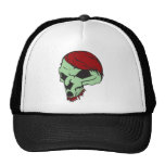 Red Haired Skull Hats