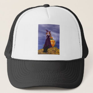 Red Haired Witch Trucker Hat