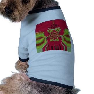 Red Hakuna Matata pattern Doggie Tee Shirt